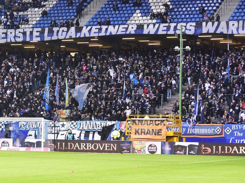 Selbstironische Fans des HSV (Quelle: Kicker.de)